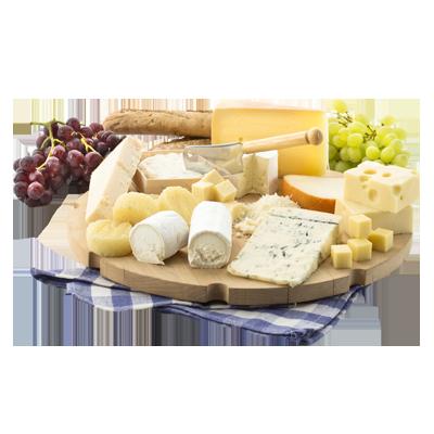 Käseplatte mit frischen Früchten