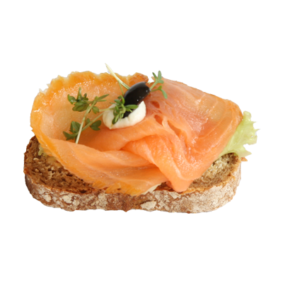 Canapee mit Lachs