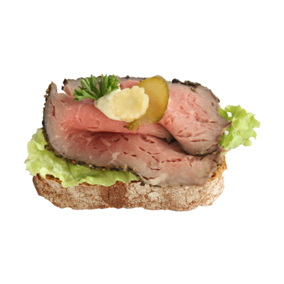 Canapee mit Roastbeef